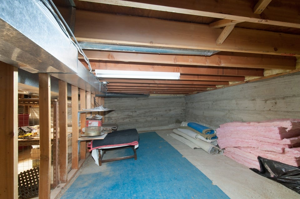 Crawlspace - great storage!